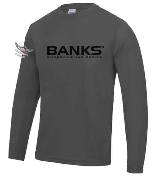 GREY BANKS LONG SLEEVE T-SHIRT